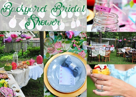 Backyard Bridal Shower Brunch